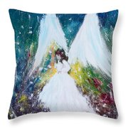Healing Angel 2 Throw Pillow