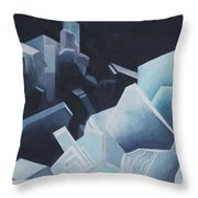 Healing Blue Crystals Throw Pillow