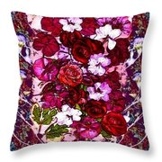 Healing Flowers For You Throw Pillow