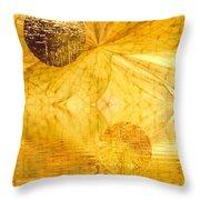 Healing In Golden World Throw Pillow