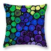 Healing Light - Mosaic Art By Sharon Cummings Throw Pillow