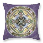 Healing Mandala Throw Pillow