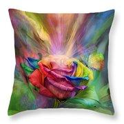 Healing Rose Throw Pillow by Carol Cavalaris