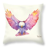 Healing Wings Throw Pillow