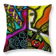 Health Food Throw Pillow by Leon Zernitsky