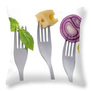 Healthy Balanced Food On White Throw Pillow