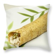 Healthy Burrito On A Plate Throw Pillow