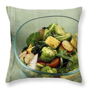 Healthy Mixed Salad Throw Pillow