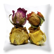 Heap Of Wilted Roses Throw Pillow