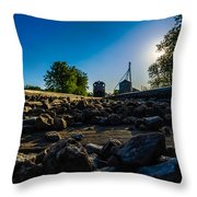 Hear My Train A Comin' Throw Pillow by Randy Scherkenbach