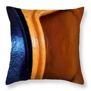 Hear No Evil - Industrial Abstract Throw Pillow