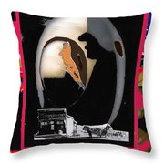 Hearse Driver Collage Young Billy Young Old Tucson Arizona Dirty Dingus Magee Mescal Az 1968/1970-20 Throw Pillow