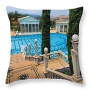 Hearst Castle Neptune Pool Throw Pillow