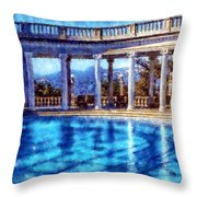 Hearst Castle Pool Throw Pillow