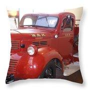 Hearst Fire Truck Throw Pillow
