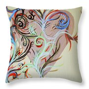 Heart # 124   Prints Available But Original Sold Throw Pillow