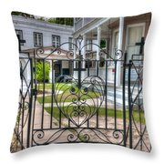 Heart And Cross Throw Pillow