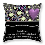 Heart And Love Design 14 With Bible Quote Throw Pillow