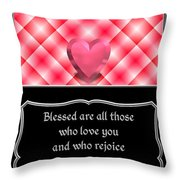Heart And Love Design 15 With Bible Quote Throw Pillow