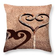 Heart And Shadow Throw Pillow