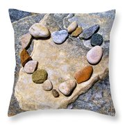 Heart And Stones  Throw Pillow