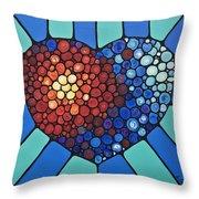 Heart Art - Love Conquers All 2  Throw Pillow