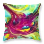 Heart Attack Watercolor Abstraction Painting Throw Pillow