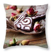 Heart Cookies Throw Pillow