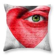 Heart Face Throw Pillow