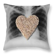 Heart Healthy Food Throw Pillow