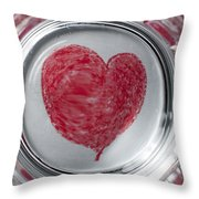 Heart In Mug Abstract 1 B Throw Pillow