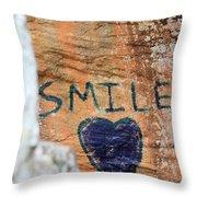 Heart In Sandstone Mountain Throw Pillow