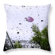 Heart In The Rearview Mirror Throw Pillow