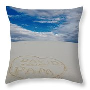 Heart In The Sand Throw Pillow