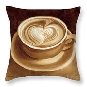 Heart Latte II Throw Pillow