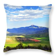 Heart Mtn And Chief Joseph Hwy Throw Pillow