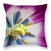 Heart Of A Tulip - Square Throw Pillow