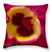Heart Of An Orchid Throw Pillow