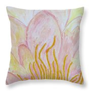 Heart Of Aqualily Throw Pillow
