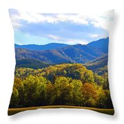 Heart Of Cataloochee Throw Pillow