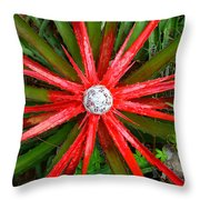 Heart Of Fire Panoramic Throw Pillow