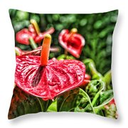Heart Of Hawaii By Diana Sainz Throw Pillow