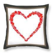 Heart Of Hearts II... Throw Pillow