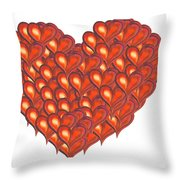 Heart Of Hearts Throw Pillow
