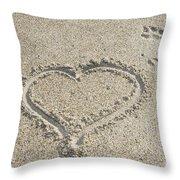 Heart Of Sand Throw Pillow