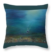 Heart Of The Ocean Throw Pillow