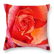 Heart Of The Rose #1 Throw Pillow