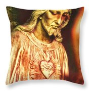 Heart Of The Savior Throw Pillow