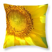 Heart Of The Sunflower Throw Pillow