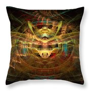 Heart Of The System Throw Pillow